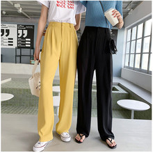 JUJULANS chiffon pants full length Cool breathable fabric Summer candy colour loose straight 868