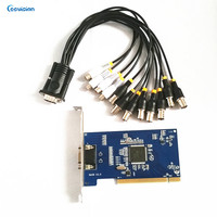 8ch HD DVR High Definition / Analog Video Capture Card PCI, VGA output, 4ch audio input