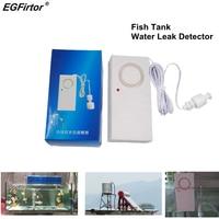 Casa de Alarme Sensor de Alarme de Vazamento de Água Do Tanque de Peixes 115dB Sirene Autônomo de Água Detecção Alerta de Inundação Estouro de Alarme de Segurança|Sensor e detector| |  -