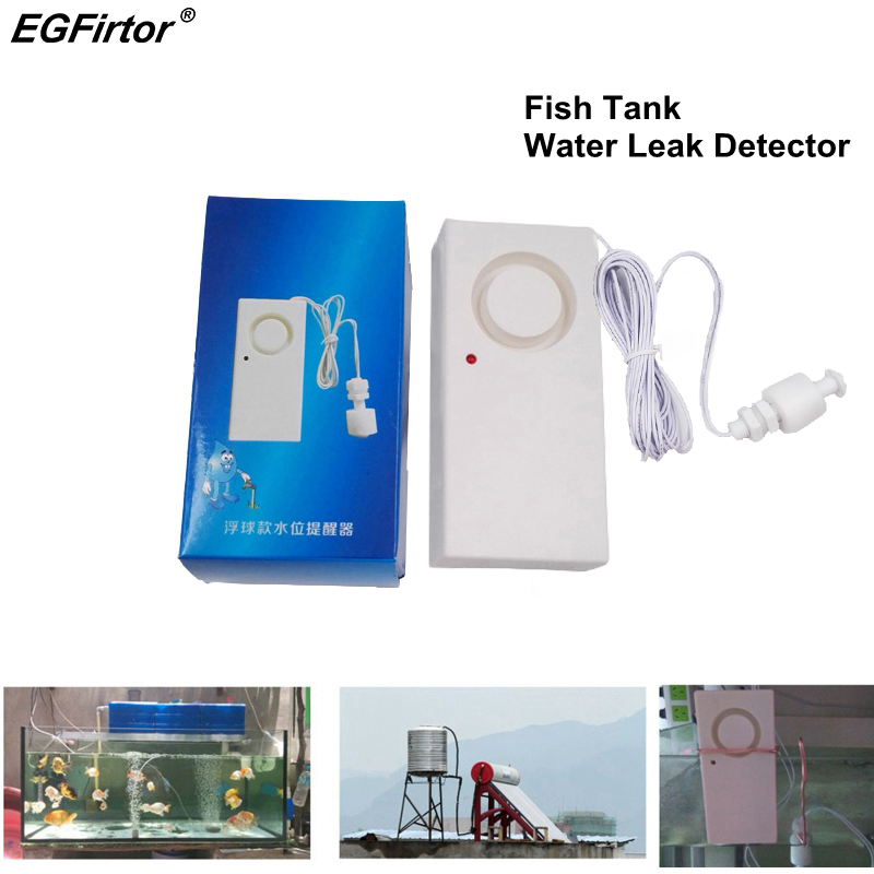 Home Alarm Fish Tank Water Leakage Alarm Sensor 115dB Sounder Stand Alone Water Detection Flood Alert Overflow Security Alarm