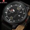 NAVIFORCE мужские часы 2016 новое поступление повседневные деловые наручные часы кожа кварцевые светящиеся часы 30 м Водонепроницаемые Relojes