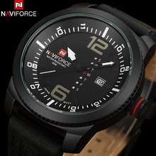 NAVIFORCE Men's Watches 2016 New Arrival Casual Business Wrist Watches Leather Quartz Luminous Watch 30M Water Resistant Relojes