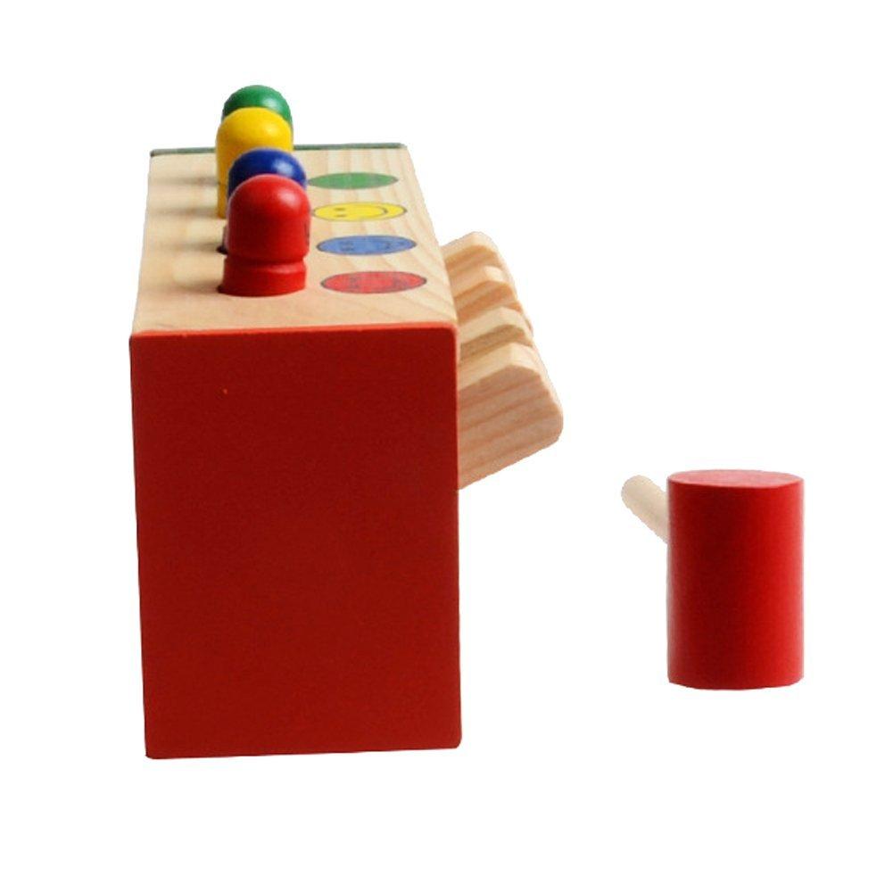 Феди best Распродажа детской малышей, развивающие игрушка деревянная игра ударов Слесарный Молоток