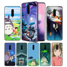 Studio Ghibli Totoro Soft Black Silicone Case Cover for OnePlus 6 6T 7 Pro 5G Ultra-thin TPU Phone Back Protective