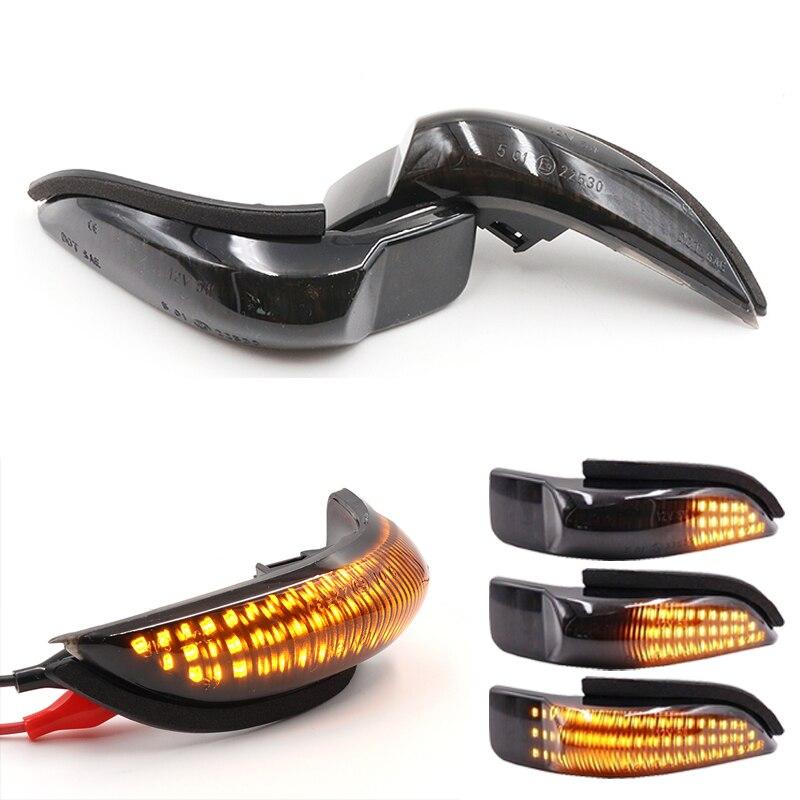 Пара Янтарный Динамический светодиодный индикатор сигнала поворота зеркала заднего вида для пластиковая пилочка для ногтей YARIS VENZA