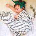 Manta Swaddle muselina Bebé Recién Nacido Swaddle muselina manta 120x120 cm Gasa de bambú Toalla de Baño de múltiples funciones