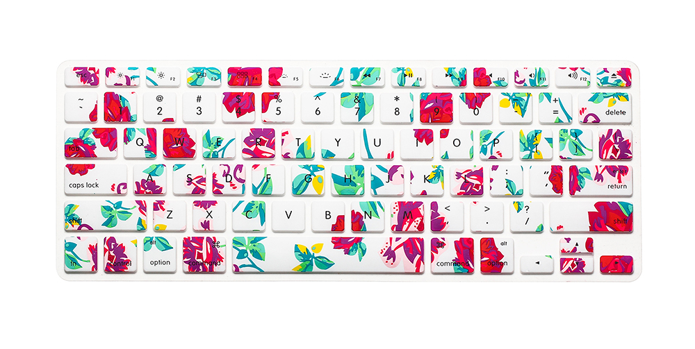 US Version Coconut Tree Botany Leaf Flower Silicone Keyboard Cover For Macbook Air Pro Retina 13 15 17inch keyboard Film For Mac