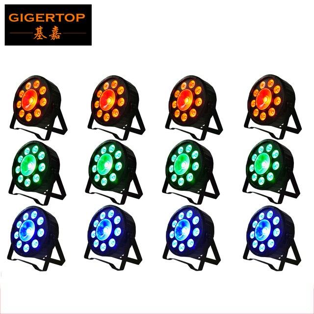 TIPTOP Новое Прибытие 12 XLOT Тонкий Led Par Свет 9*3 W 3in1 RGB Led + 1x30 Вт Led 3in1 RGB DJ Par 64 Этап DMX Tri Цвет Par Банок