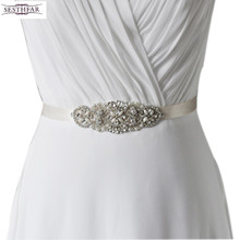 Hot selling bridal belt wedding accessories bridal belts with crystals pears beaded 2016 wedding belts and sashes  s76