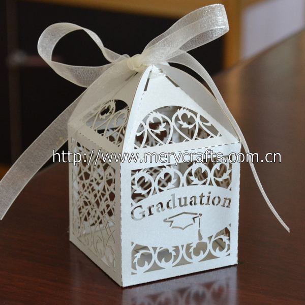 100pcs Lot Graduation Party Supplies Cap Laser Cut Candy Boxes Chocolate Box Gift In Bags Wrapping From Home Garden On