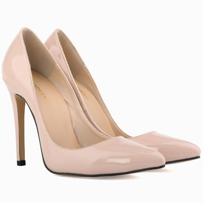 A  genuine leather pumps elegant wedding high heels shoes plus size women slip on pumps 2017 autumn women sexy party shoes блузка quelle venca 873509