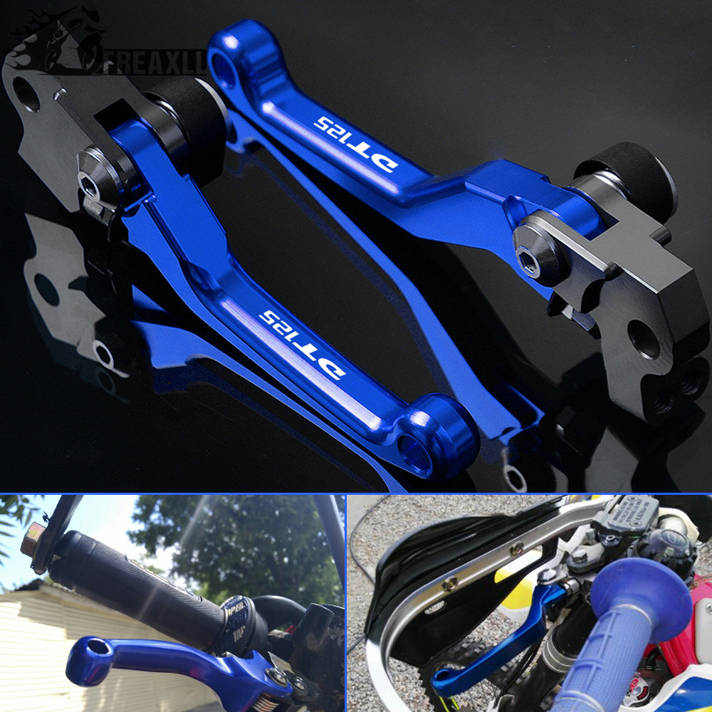 CNC Aluminum Brake Clutch Lever Handle Motocross Motorbike Accessories For <font><b>YAMAHA</b></font> DT125 1987-2005 <font><b>DT</b></font> 125 D T Pivot Pit dirt bike image