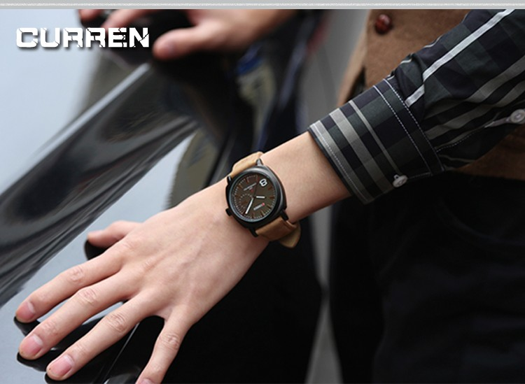 CURREN Original Brand Men Watch Luxury Leather Strap Quartz Watch Waterproof Clock 8139 24