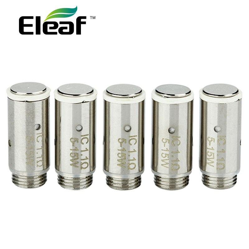 5 pz/lotto Eleaf iCare/iCare Mini Atomizzatore IC Testa 1.1ohm Supporto 5-15 W Potenza Vape Bobina per iCare/iCare Mini Carro Armato E Sigaretta