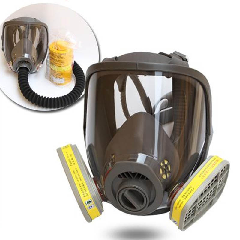 Full Face Respirator Gas Mask Multi Function Silicone Mask for Industry Painting Spraying Anti-dust as 6800 mask declare двухфазное увлажняющее средство для лица hydro boost duo care fluid 2x20ml