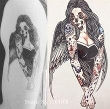 NEW ARRIVAL 21 X 15 CM Zombie Girl Temporary Tattoo Stickers Temporary Body Art  Waterproof#111