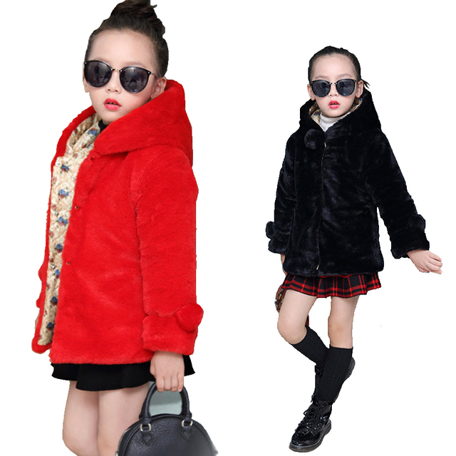 Jacket For Girls Fashion White Hooded Padded Jacket Children ...