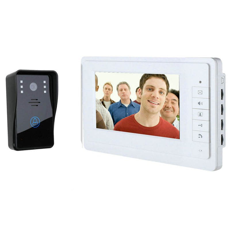 7 Inch 700TVL Rain-Proof Camera Wired Intercom Video Door Phone 817-MJ