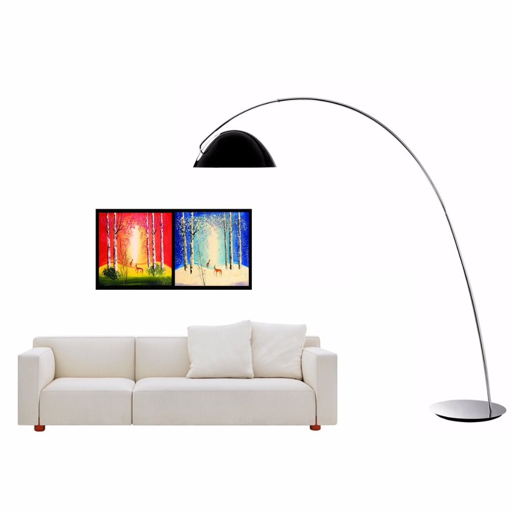 Modern Floor Lamp Stainless steel black color palting lampshade floor lamp Living Room reading bedroom office standing lamp modern wooden floor lamps bookshelf floor stand lights tea table standing lamp living room bedroom locker nightstand lighting