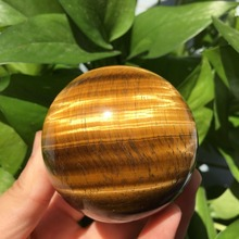 50mm Natural Tiger s Eye Quartz Crystal Sphere Ball Healing
