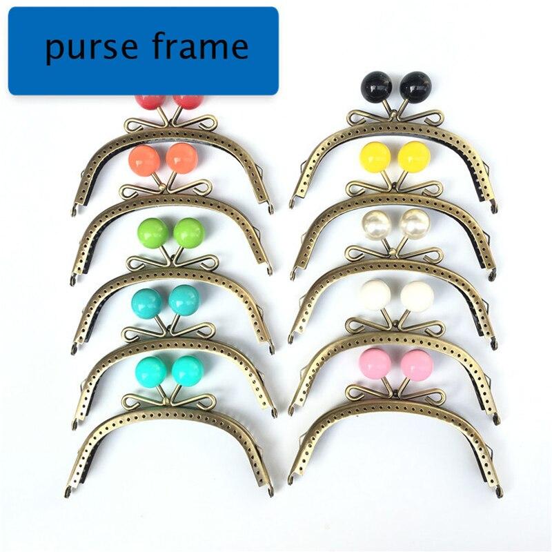 12.5cm Women DIY Purse Frame Metal Clasp Bag Making Hardware Accessories Kiss Buckle Bronze Color 10pcs/lot Wholesale