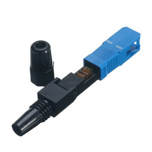 50PCS FTTH SC UPC single-mode fiber optic SC UPC quick connector FTTH Fiber Optic Fast Connector(China)