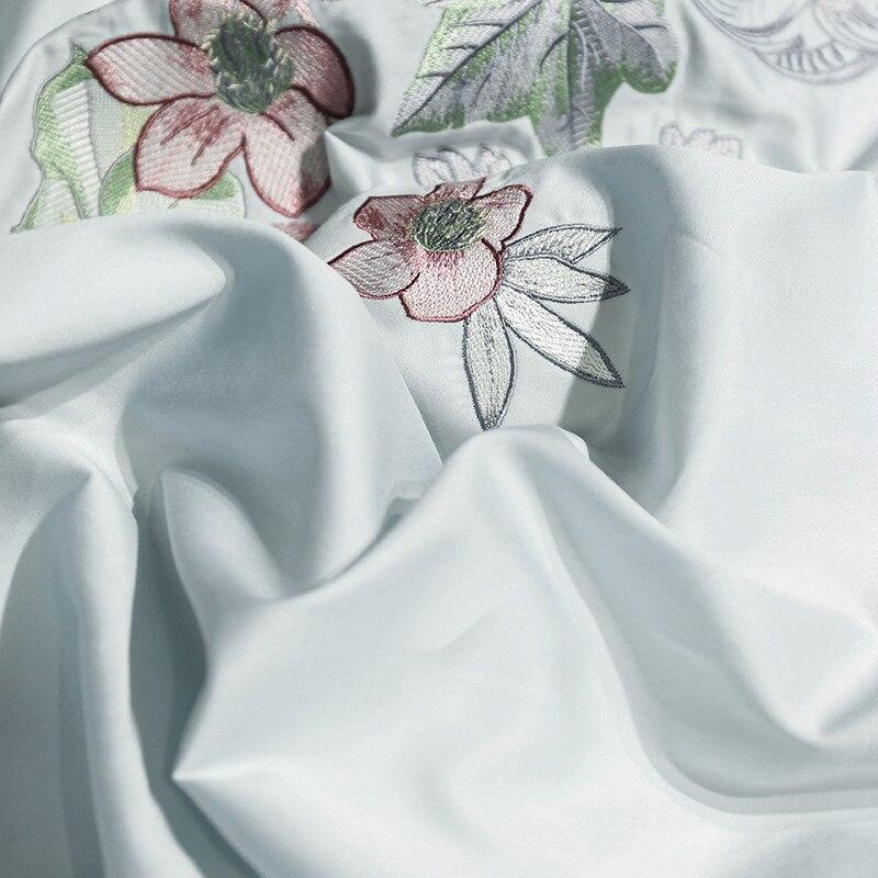 4/7 piezas bordado conjunto ropa de cama de lujo 100% algodón ...
