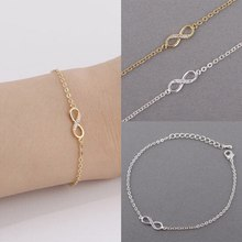 High Quality 8 Word Bracelet Fashion Cute Ladies Bracelet Micro Heart Pendants Extended Chain Jewelry(China)