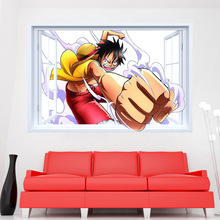 one piece wall stickers for kids bedroom removabl 3d fake window nursery room home decor wall picture diy self adhesive poster