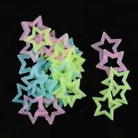 LoveCCD 4,7 cm Glow in The Dark Spielzeug Leucht Hohl Stern Aufkleber PVC Aufkleber Fluoreszierende Malerei Spielzeug für Zimmer J0820