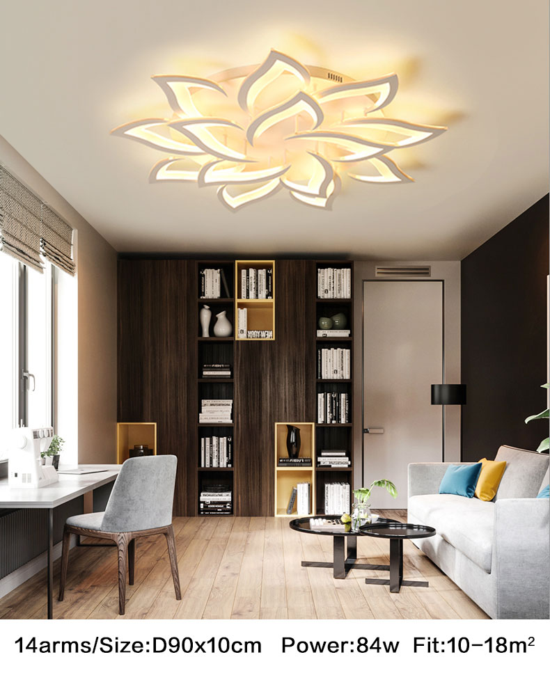 branco acrílico lustre lâmpada do teto fxiture