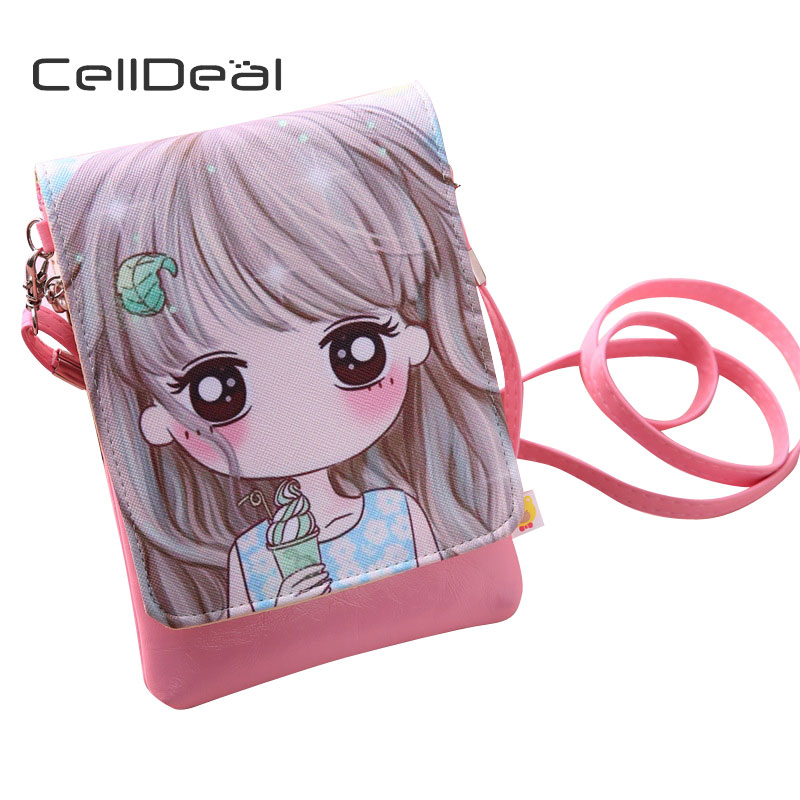CellDeal Fashion Girl Mini PU font b Purse b font font b Children b font Crossbody