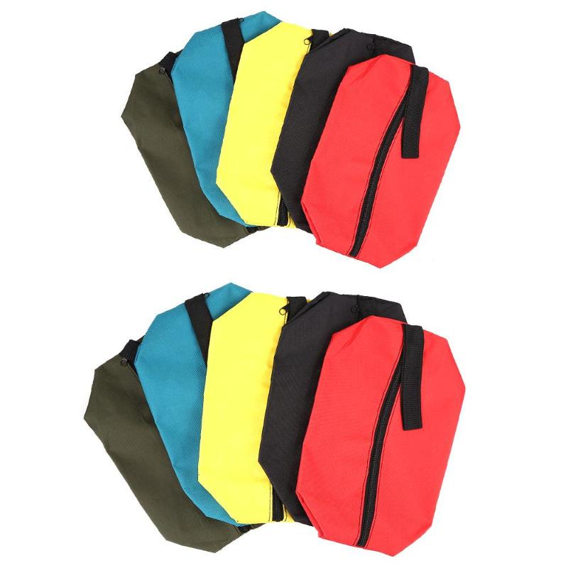 5pcs/set Portable Multi-function Waterproof Oxford Carrying Handheld Toolkit Storage Tool Bag Organizer Pouch Bag