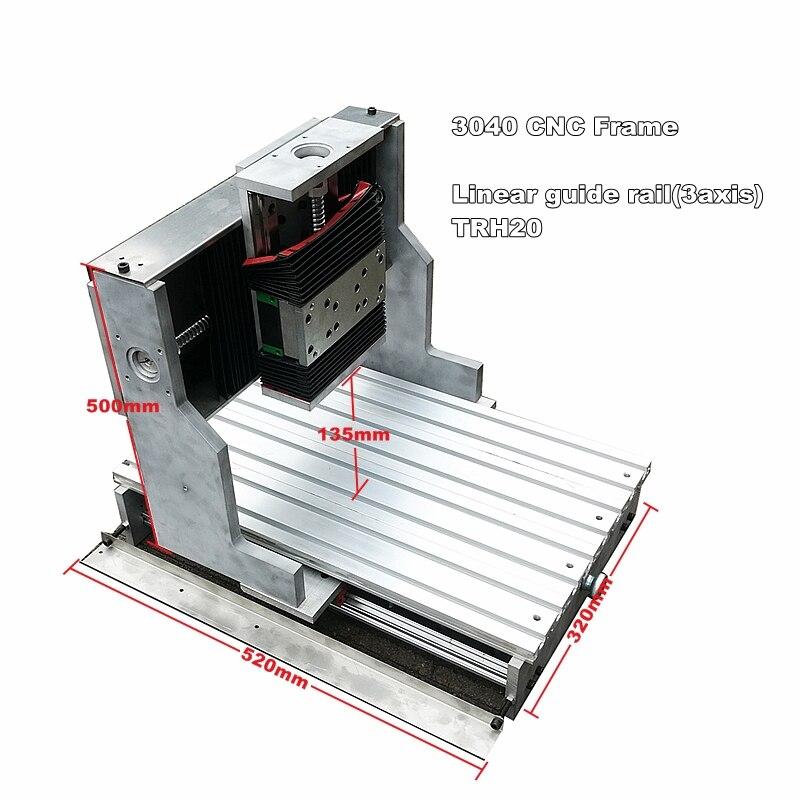 CNC cadre 3040 guide linéaire précis pour bricolage gravure perçage fraiseuse MACH3