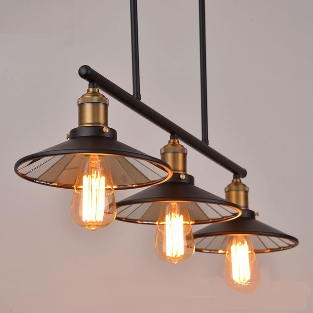 Nordic loft retro industriële wind Hanglampen eetkamer lamp ...