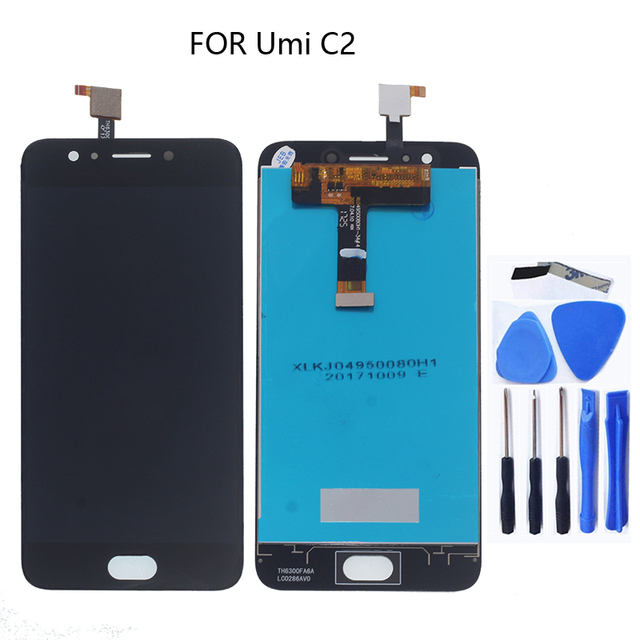 100% test work LCD screen replacement screen for UMI C2 + tools for UMIDIGI C2 LCD monitors with touch screen digitizers