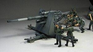 Image 2 - 1:35 모델 구축 키트 독일 88mm 건 플랙 36/37 w/9 피규어 ks750 군용 탱크 어셈블리 tamiya 35017