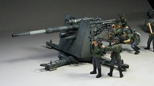 Image 2 - 1:35 Model Building Kits Duitse 88mm Gun Flak 36/37 w/9 Cijfers Ks750 Militaire Tank Montage Tamiya 35017