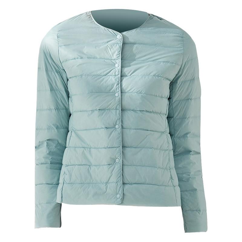 2019 Women/'s Ultralight 90/% Down Round neck Jacket Puffer Parka Coat size S-3XL