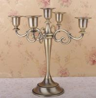 Candle Holder 5 arms Candle Stand Wedding Event Candelabra Candelabra 27cm Tall Candle Stick Silver Gold Black Color
