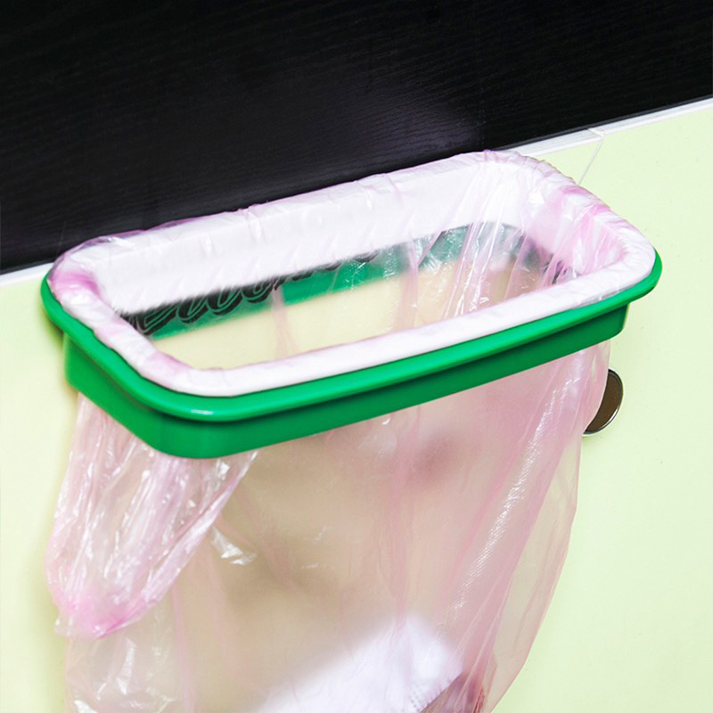 22*12.5cm PP Practical Portable Door Garbage Trash Bag Box Can Rack Plastic Hanging Holder Kitchen Tool TB Sale