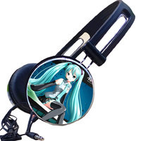 Hatsune Miku Anime Headphone Cartoon Earphone Music Headphones Gaming Headset Headphones For Iphone Samsung Xiaomi Huawei