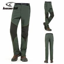 купить Men Hiking Pants Winter Fleece Waterproof Outdoor Pants Softshell Trousers Camping Fishing Trekking Climbing Pants Plus Size дешево