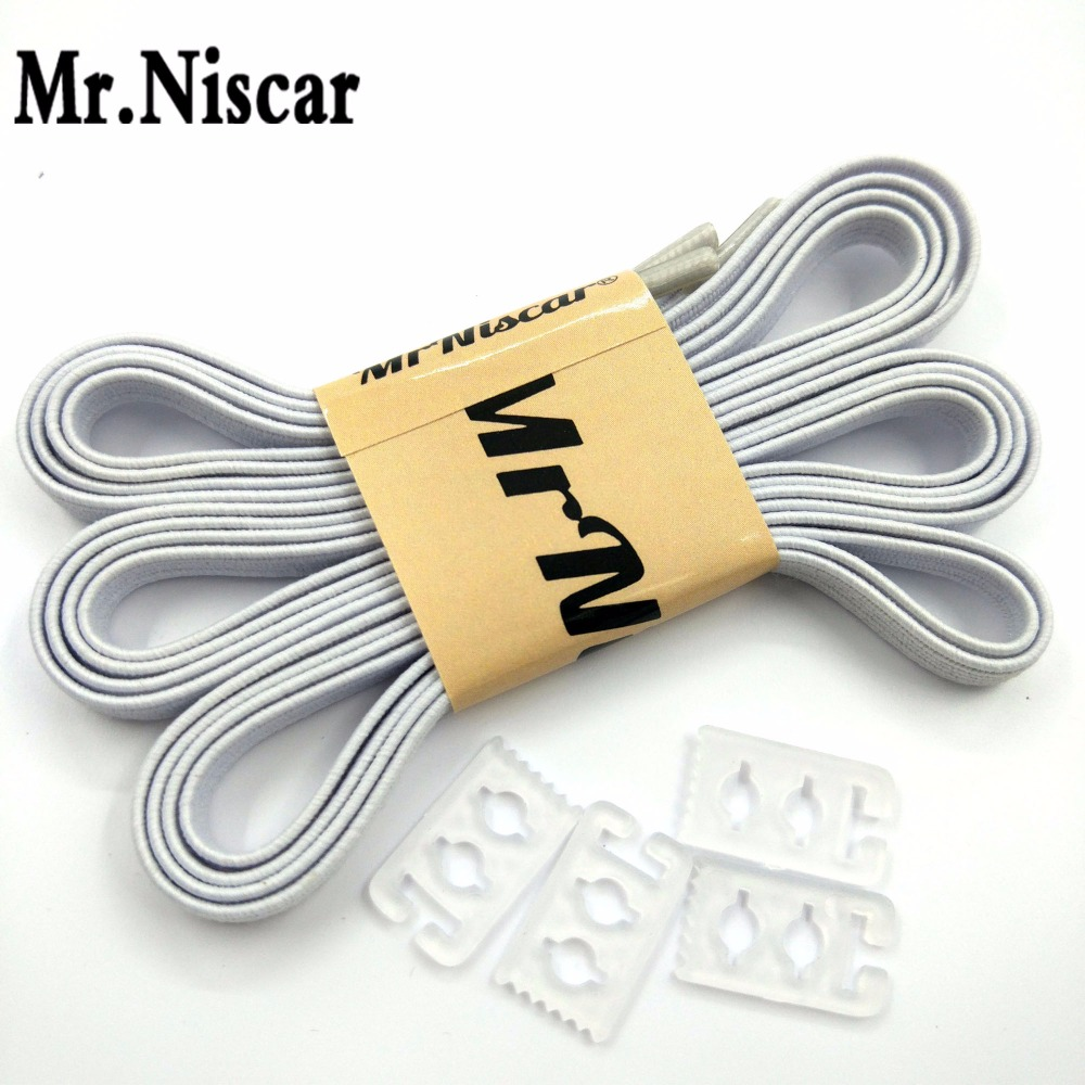 Mr.Niscar 1Pair 110cmX0.6cm Adult Children White Elastic Shoelaces for Sneaker Casual Shoes No Tie Laces Shoe Kids Accessories no–talk therapy for children