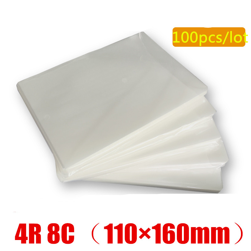 Hot 100PCS/lot Deli Pouch Laminator Film 4R 8C 6inch (110x160mm) Size 70 Mic Photo Documents PET Laminator Film