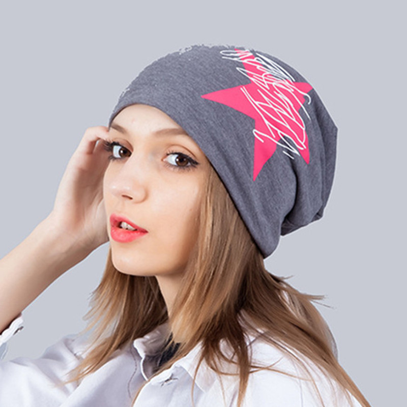 Star Print Autumn Winter Hats For Women Men Hip Hop Beanies Skullies Unisex Men  Cap Spring 42a399804f1e