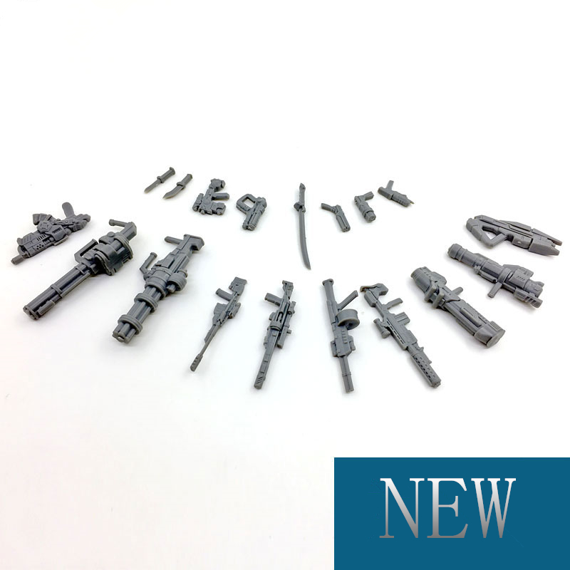Gun Weapon Model Mini Weapons Scale Model Guns Assembly Toy For 3.75 Inches 1/18 or 1/25 Action Figure Doll Gift Toys image