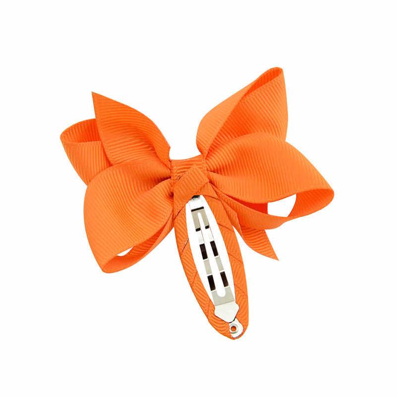 2.75 אינץ בנות שיער אביזרי Soild מבהיקי סרט קשת שיער קליפ קוקו מחזיק מפץ סיכות נסיכת שיער קשתות