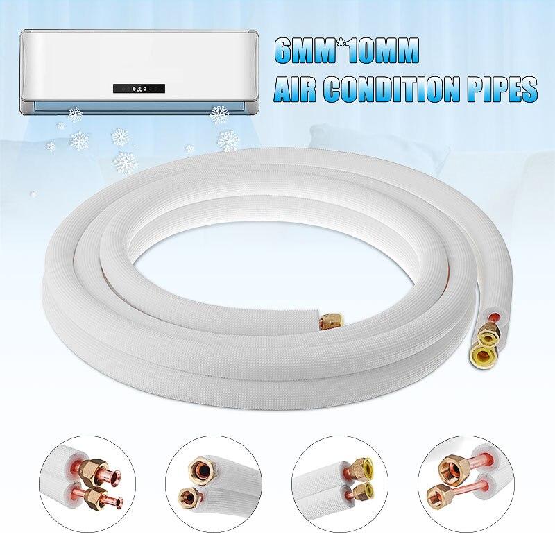 4m 13FT 10*6mm isolé cuivre tuyau climatiseur raccords paire bobine Tube isoler cuivre aluminium tuyau Split ligne fil maison