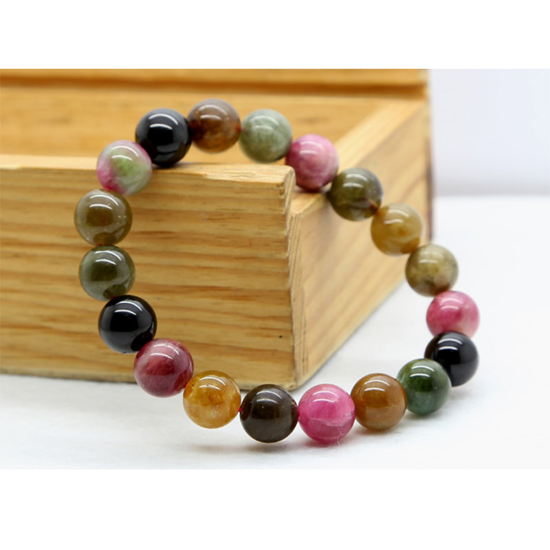 Wholesale Same Quality Genuine Natural Natural Mix Tourmaline Finished Stretch Bracelet Round beads 10 Fit Jewelry DIYWholesale Same Quality Genuine Natural Natural Mix Tourmaline Finished Stretch Bracelet Round beads 10 Fit Jewelry DIY